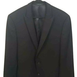 Calvin Klein Mens Two Button Suit Jacket 42L Black